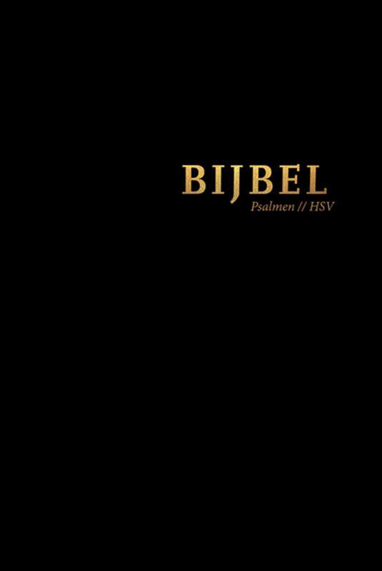 Bijbel (HSV) met Psalmen - zwart leer met goudsnee, rits en duimg